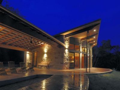 Photo for Secluded Modern Creekside Hill Country Gem!!!