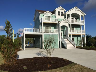 Photo for New 7 Bedroom (4 Masters) Oceanside Family Vacation Home In Whalehead