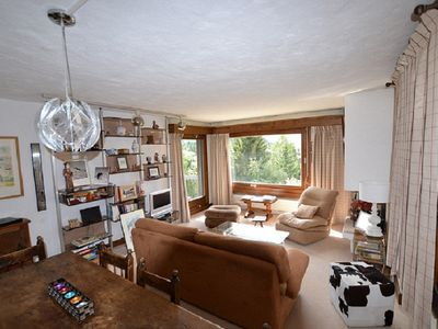 Photo for Apartment on the Mont d'Arbois plateau with beautiful open view
