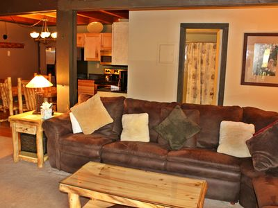 Photo for Two Bedroom Condo with central location, clubhouse, fireplace and wifi
