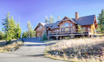 Photo for Deluxe home close to Big Sky Resort with amazing mountain views, hot tub, and private deck