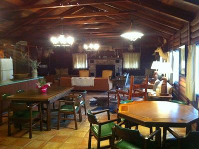 Entering the lodge is like stepping back in time.