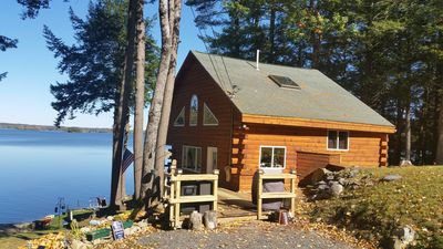 Photo for Immaculate View On Beautiful Webber Pond With Boat Rental Option