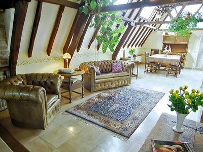 Photo for Romantic Penthouse in Bruges Medieval Centre with Roof Garden and Free Garage