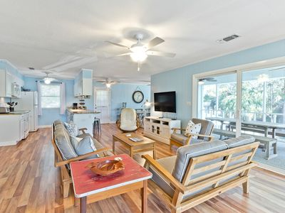Large Beach Home Two Living Areas, Just steps to beach