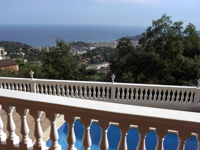 Photo for Villa with pool and incredible sea views in Lloret de Mar