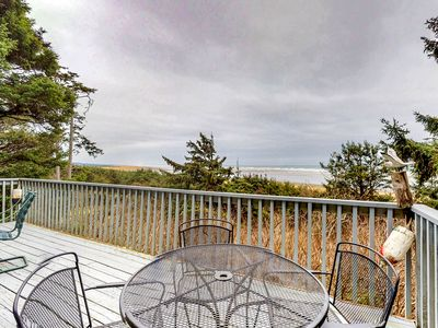 Photo for Dog-friendly beachfront cabin with private path to beach and ocean views!