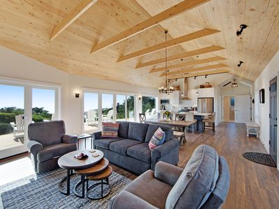 Photo for Luxurious, new coastal home w/modern kitchen, sweeping ocean and pastoral views!