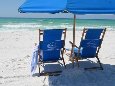Photo for Relax At The Beach -Umbrella & Chairs Included