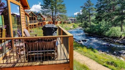 Photo for PRIME FRONTAGE on Big Thompson River with Mountain Views-  NEW HOME with AC!
