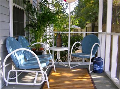 Catch a breeze on the screened front porch