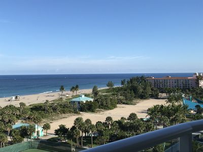 View of the public beach from our balcony