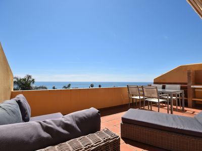 Photo for Modern beachside Penthouse with amazing sea views in Costabella, Marbella