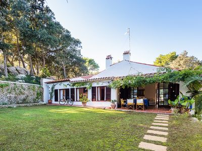 Photo for Charming country villa with pool and gardens in Menorca