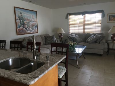 Photo for Beautiful 2/2 Condo 1.5 Blocks to Beach! Light, Bright & Clean!  Heated Pool!
