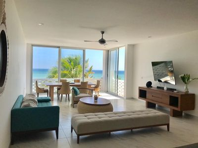 Photo for Beautiful Beachfront Penthouse in San Benito Beach Mexico