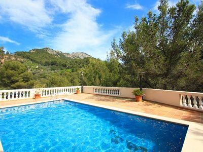 Photo for Lovely apartment with pool & superb mountain views in Port de Soller. Free wifi