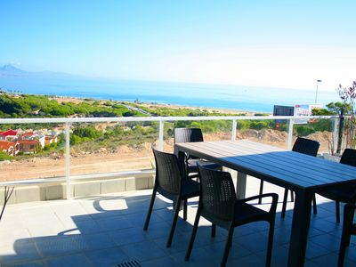 Photo for Nova Beach luxury apartment with stunning sea view, heated pool and jacuzzi's