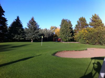 Photo for Fantastic view backing onto the 7 th hole of the Golf Course, 5 bdrms, 2 baths!