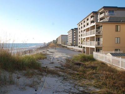 Tiki Directly on the Beach ! 3rd floor middle unit, wonderful view, Very Clean.
