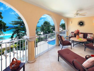 Photo for Luxury 3 Bedroom, 3 Bathroom Beach Front Condo On Dover Beach, St. Lawrence Gap.