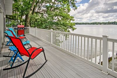 Cherish the view of pristine water and blue skies from the expansive deck.
