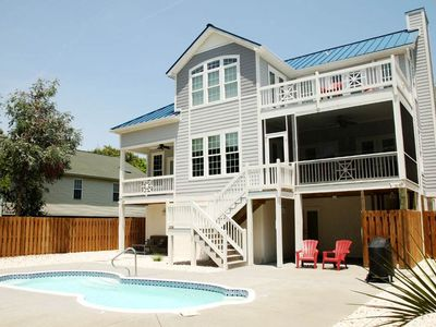 Photo for Time Stands Still: 4 Bed/3 Bath Home with Private Fenced In Pool Only 1 Block to Beach Access