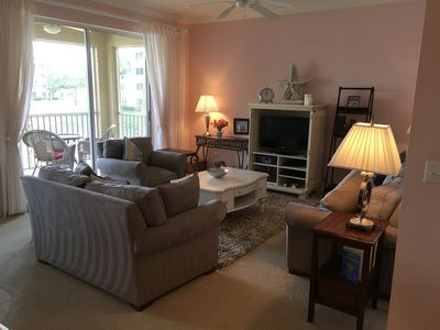 Living Room View from Dining Area