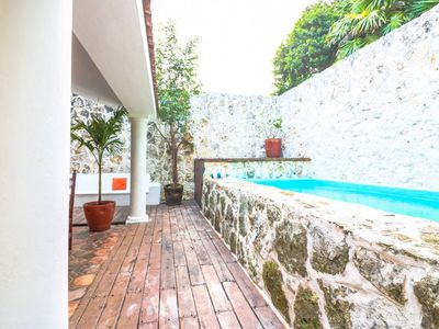 Photo for Beautiful Old World style villa. Steps to beach!