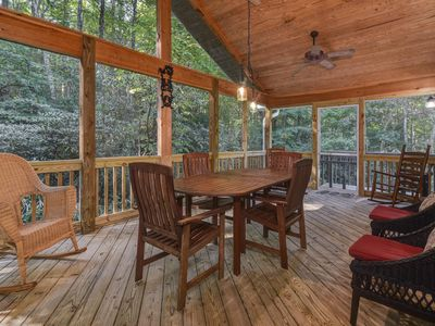 Photo for Creekside Cabin on Blue Ridge with Babbling Brook and Breathtaking Forest