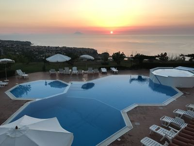Photo for Apartment With Stunning Shared Infinity Pool And Sea Views