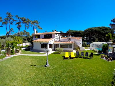 Photo for Spacious villa for 10 - Covered Pool - Tranquil location - 1km from beach