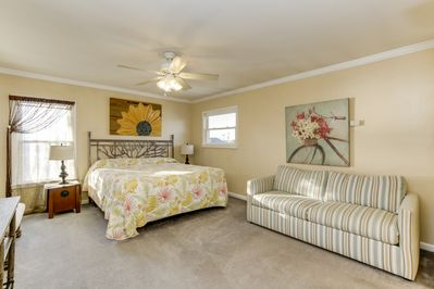 **KING BEDROOM WITH ATTACHED BATH**