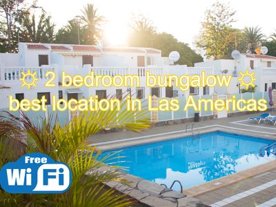 Photo for 2 bedroom bungalow, best location in Las Americas!