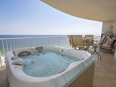 Photo for Lazy River ~ Balcony Hot Tub and Grill ~ Gulf  Front ~ Sleeps 10 ~ Turquoise Place 1104C