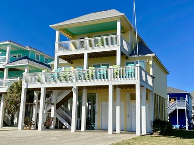Photo for BEACH THERAPY - Beachfront  - Amazing House - 4 bedrooms - sleeps 14.