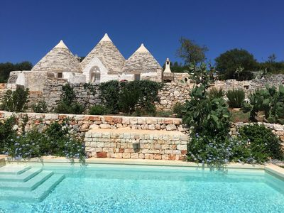 Photo for Fantastic Trullo with Wi-Fi, Pool and Parking Spaces