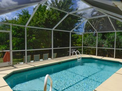 Photo for Tropical family escape, with refreshing private pool, covered lanai, and hot tub