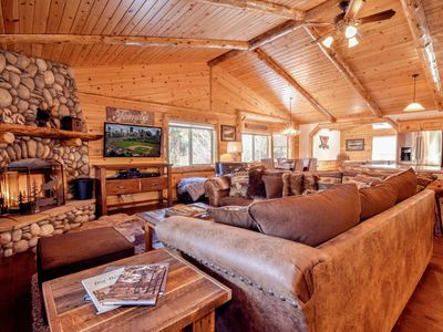 Photo for Eagle Mountain Lodge: 5 Star Luxury Log Cabin! Central AC! Great Location! Pool Table! Propane BBQ!