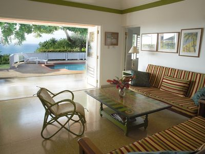 Photo for Miss P's Place Beautiful Villa with Ocean View, Short walk to beach, WiFi, staff