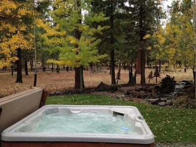 Photo for You will enjoy your private hot tub at this Sisters vacation home that includes an outdoor dining, p