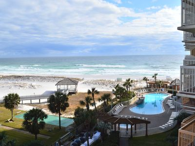 Photo for Remodeled Beachfront Condo🌴🌴Curved Tv🌞🌞Gulf Views🐬🐬Stay in Style