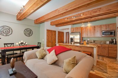 Gorgeous Great Room with wood flooring
