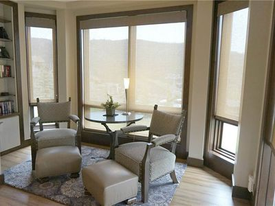 Photo for Elegant Ski-In/Ski-Out Condo with Full Kitchen, Wood-Burning Fireplace, and Alpine Views