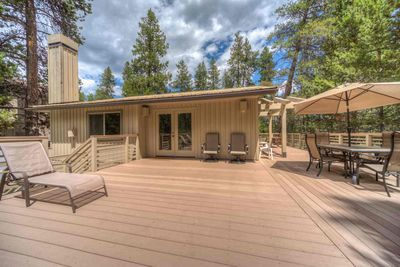 Second story deck with seating - Welcome to #26 Poplar Loop.  A beautiful luxury home with 3 master suites! Free SHARC passes!!