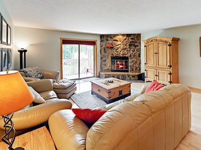 Photo for Lodge-Style 2BR w/ Private Deck - Drive Minutes to Ski Resort & Downtown
