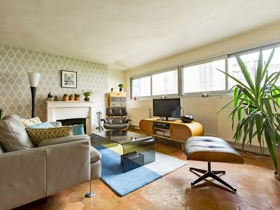 Photo for Spacious, retro 2BR apartment, close to metro & theatre district, by Veeve