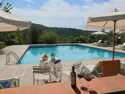 Photo for Rural agritourismo with panoramic swimming pool.