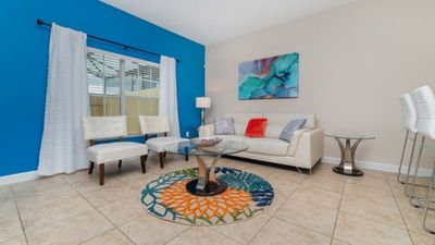 Photo for Beautiful townhouse with private pool and water views, 10 minutes from Disney