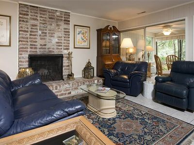 Photo for 93 Fairway Lane | 5 Minute Walk to Beach | Golf Course View | Onsite Tennis | Sea Pines